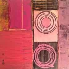 "Acrylic, water color, oil pen. 10"" x 10"""