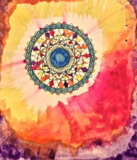 """Good Morning. Watercolor and ink. 4.5"""" x 5"""""""