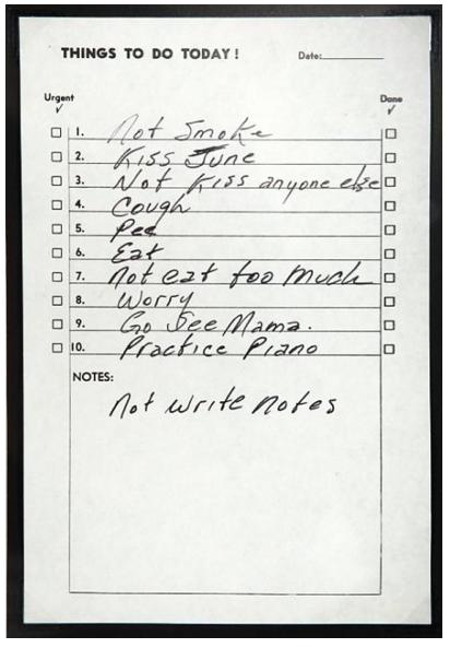 Johnny Cash To Do List