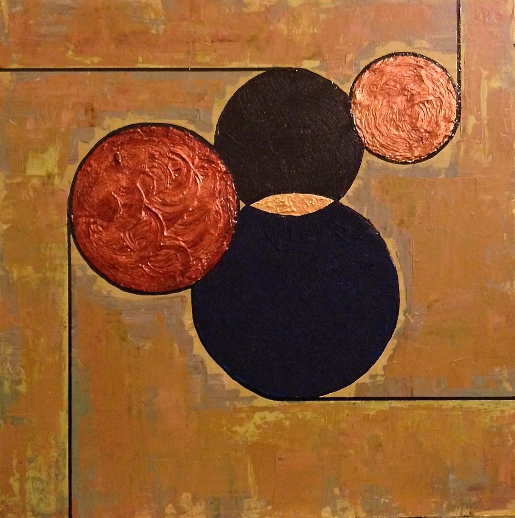 mixed media, abstract art