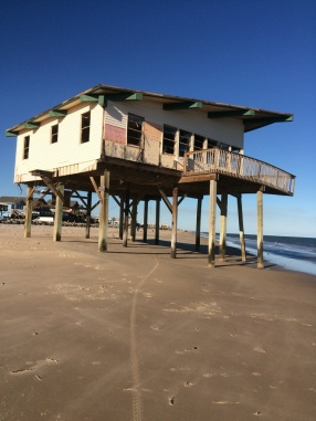 I have no idea how long it's been standing since abandonment, but it's been there as long as I've been going to Surfside.