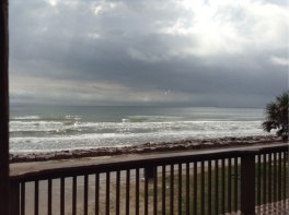The view from the deck during an afternoon rain storm.
